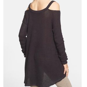 Free People Moonshine V' Cold Shoulder Sweater
